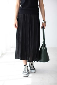 【AZUL by moussy】ジョーゼットプリーツマキシスカート