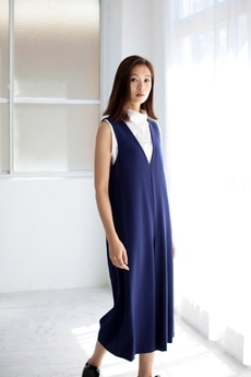 【AZUL by moussy】ダブルクロスサロペット