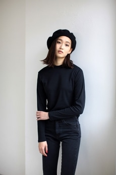 【AZUL by moussy】TCスムースハイネック長袖プルオーバー