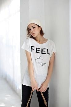 【AZUL by moussy】FEELエッフェルモチーフT