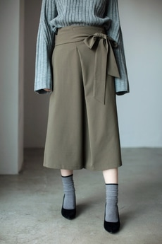 【AZUL by moussy】リボンミディ丈スカート
