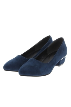 【AZUL by moussy】3.5cmワイドヒールスウェード調パンプス