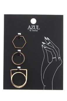 【AZUL by moussy】ねじり立体SETリング
