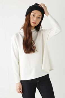 【AZUL by moussy】フレアヘムボトルネック長袖プルオーバー