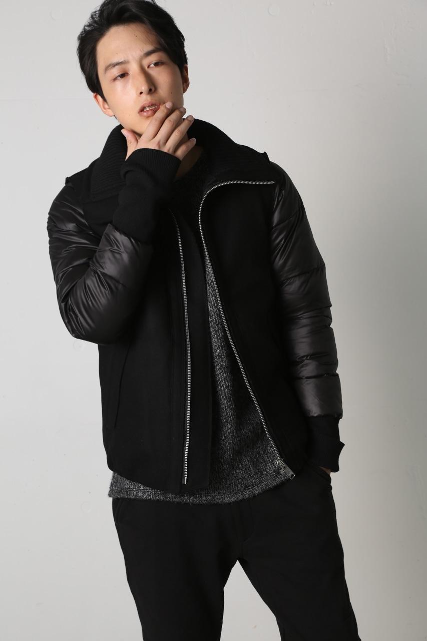 【AZUL by moussy】袖取り外し中綿ZIPジャケット