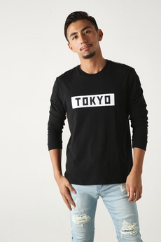 【AZUL by moussy】STARTER TOKYOプリント長袖T