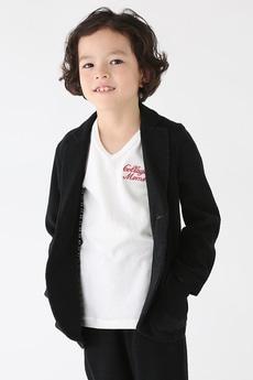 【KIDS】カノコ裏ボーダーテイラードジャケット