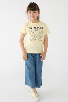 【KIDS】SIX PACKプリント半袖T