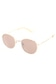 【AZUL by moussy】ナローメタルフレームオーバルサングラス