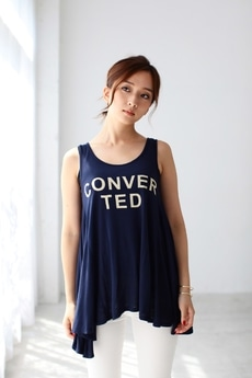 【AZUL BY MOUSSY】R天竺CONVERTEDフレアタンク