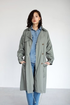 【AZUL BY MOUSSY】コットントレンチコート