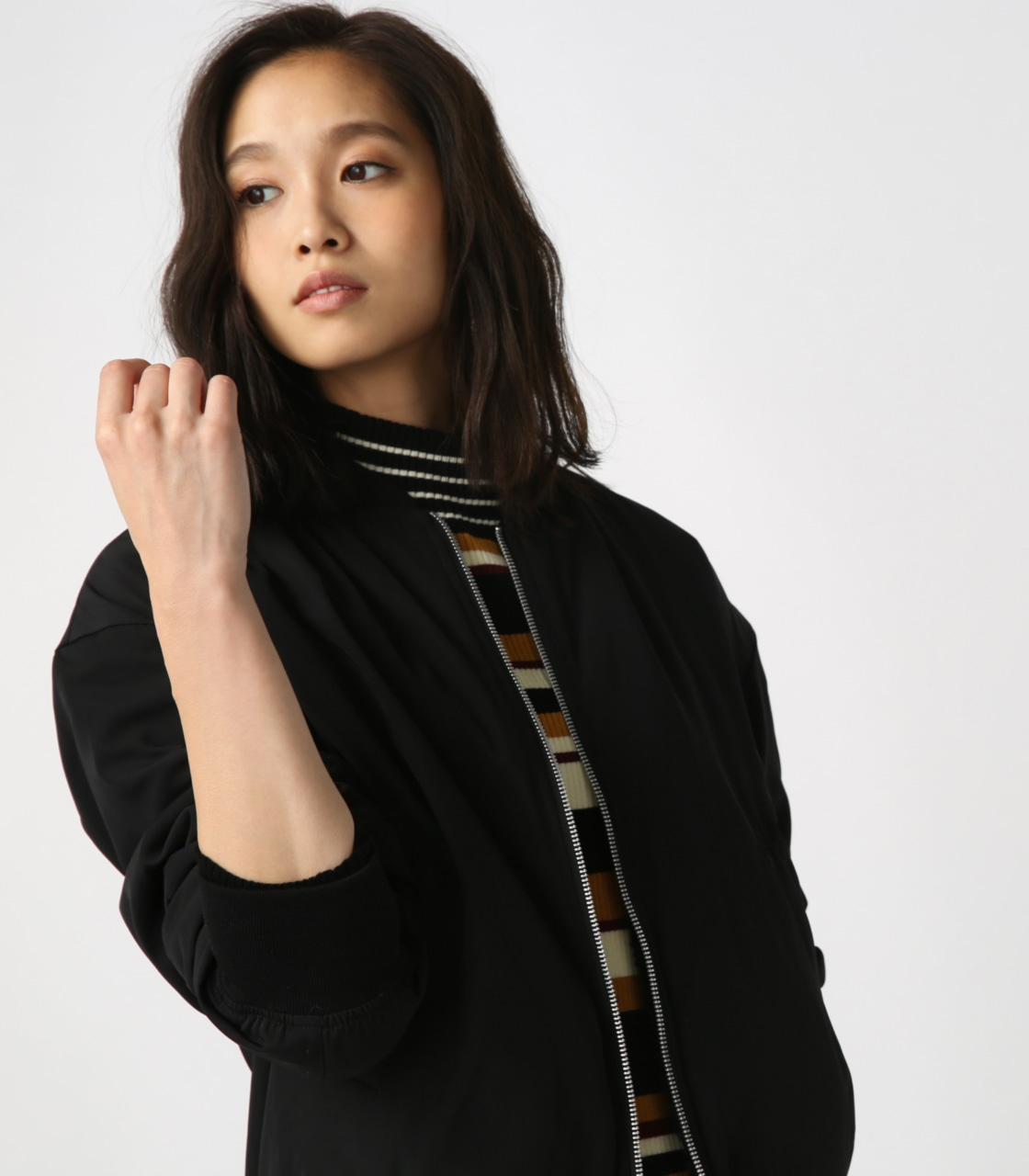 【AZUL BY MOUSSY】リバーシブルボアブルゾン 詳細画像 BLK 2