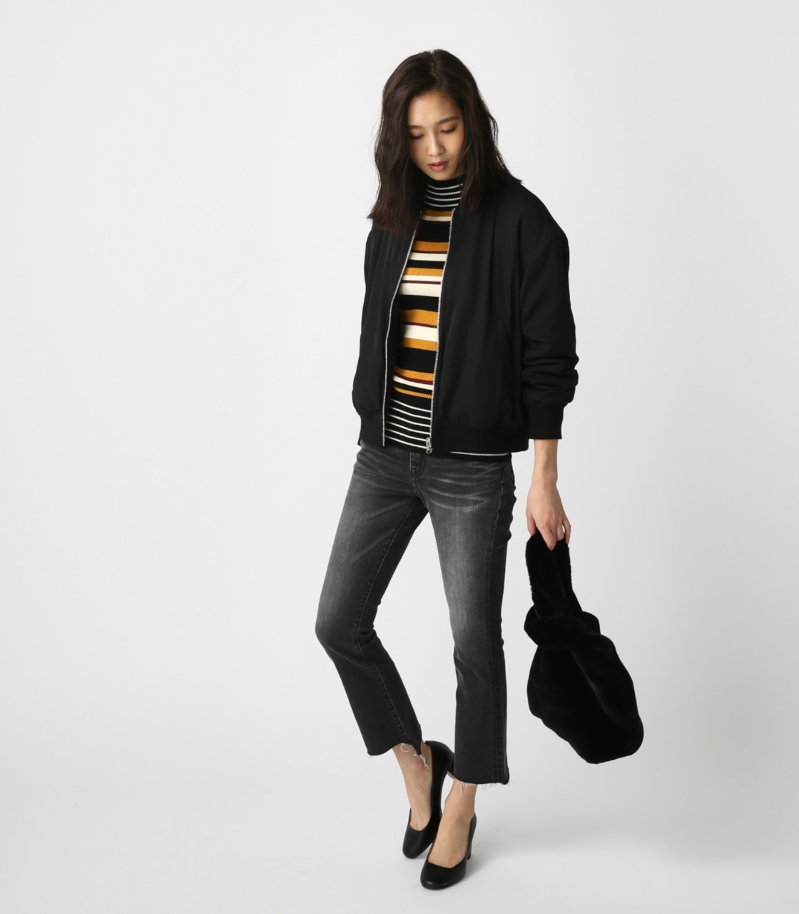 【AZUL BY MOUSSY】リバーシブルボアブルゾン 詳細画像 BLK 3