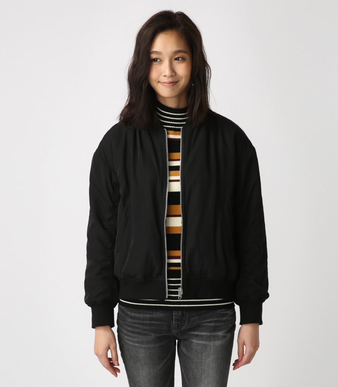 【AZUL BY MOUSSY】リバーシブルボアブルゾン 詳細画像 BLK 5