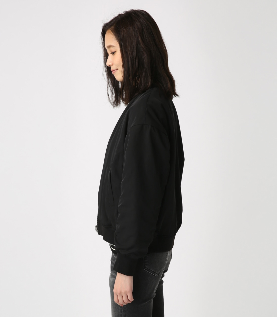 【AZUL BY MOUSSY】リバーシブルボアブルゾン 詳細画像 BLK 6