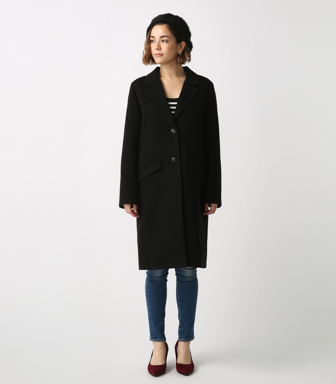 【AZUL BY MOUSSY】スタンダードチェスターコート 詳細画像 BLK 5
