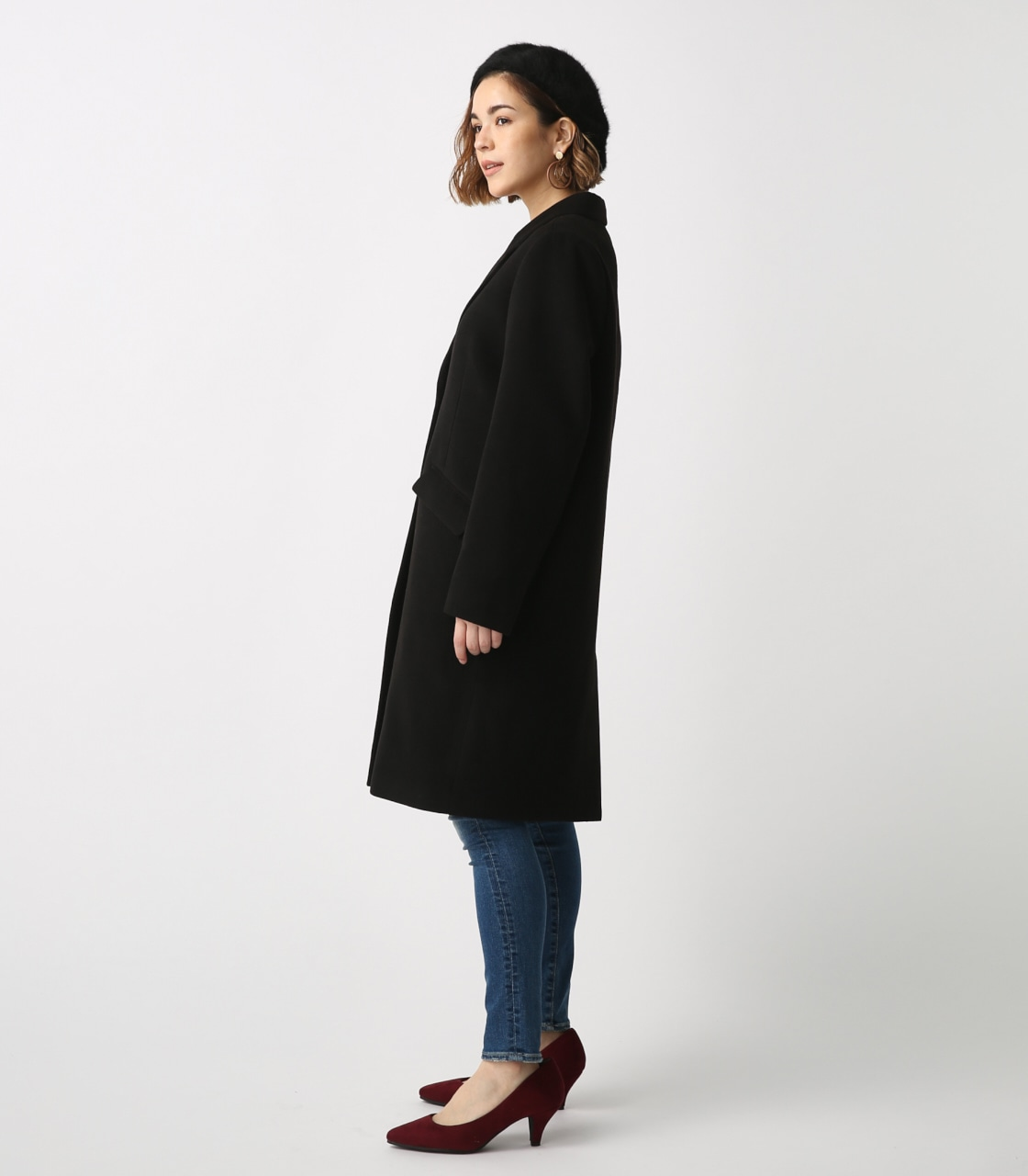 【AZUL BY MOUSSY】スタンダードチェスターコート 詳細画像 BLK 6