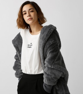 【AZUL BY MOUSSY】ボアショールカラーロングコート【MOOK44掲載 99031】
