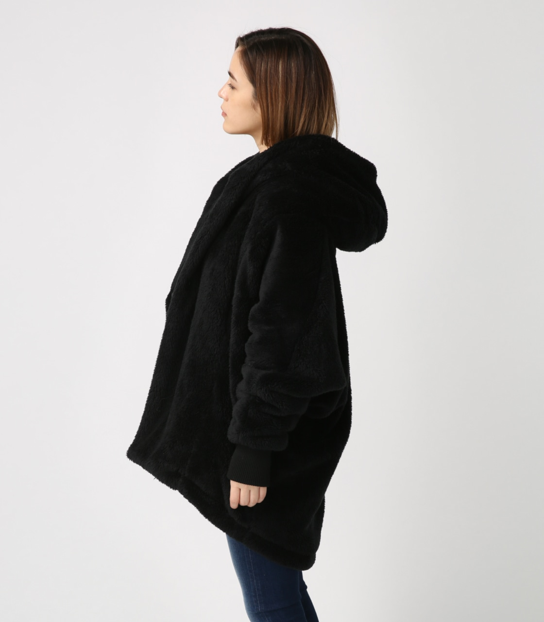 【AZUL BY MOUSSY】ボアショールカラーロングコート【MOOK44掲載 99031】 詳細画像 BLK 6