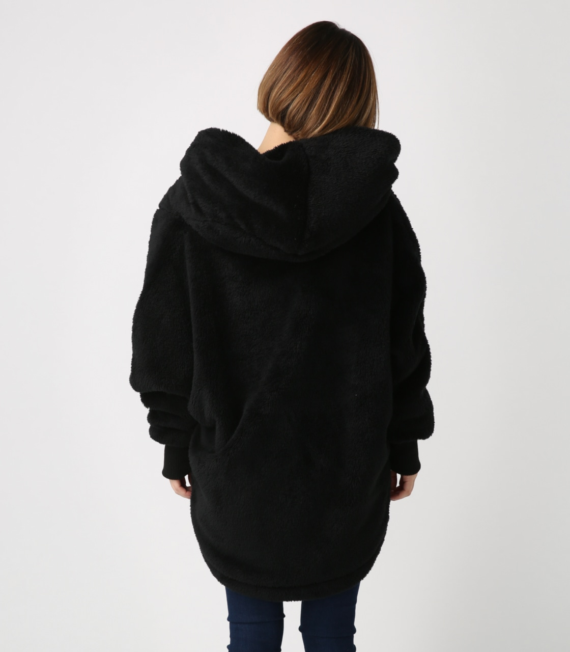 【AZUL BY MOUSSY】ボアショールカラーロングコート【MOOK44掲載 99031】 詳細画像 BLK 7