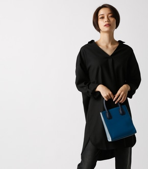 【AZUL BY MOUSSY】スキッパー長袖T/Bシャツワンピース