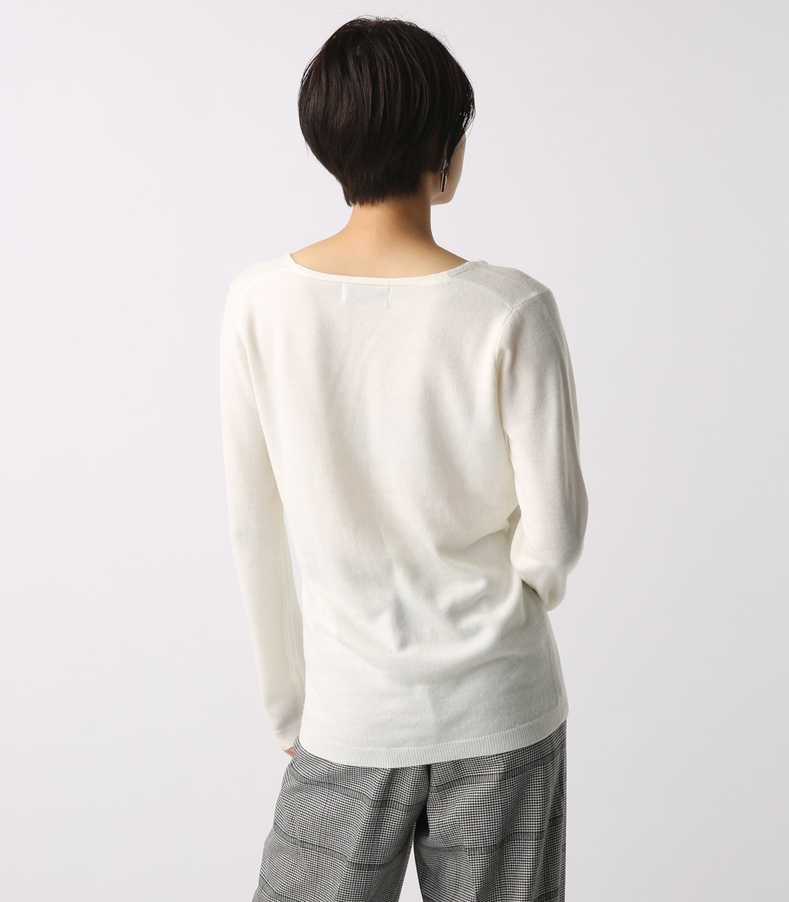 【AZUL BY MOUSSY】ウォッシャブルソフトタッチVネック長袖プルオーバー [MOOK掲載]  97011 詳細画像 O/WHT 7