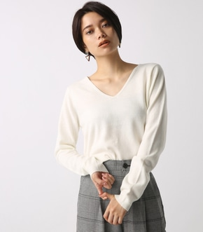 【AZUL BY MOUSSY】ウォッシャブルソフトタッチVネック長袖プルオーバー 詳細画像