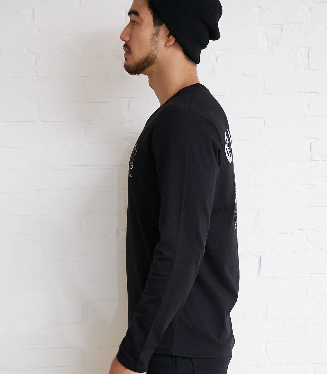 【AZUL BY MOUSSY】Eminent天竺長袖VネックT 詳細画像 BLK 6