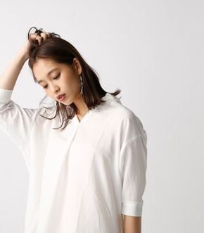 【AZUL by moussy】7分袖スキッパーシャツ