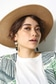 【AZUL by moussy】グログランテープつば広HAT