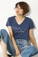 【AZUL by moussy】ロゴVネック半袖T