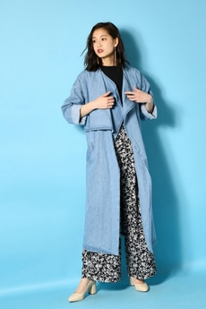 《7/24(月)11:59までWEB限定価格》【AZUL by moussy】DENIM COAT
