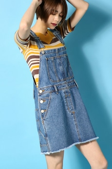 【AZUL by moussy】Denimサロペット