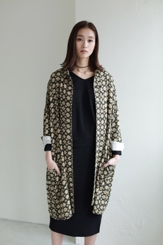 【AZUL by moussy】小紋柄ルーズシャツジャケット