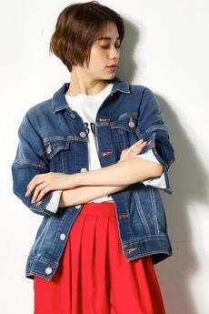 【AZUL by moussy】カットビッグデニムジャケット