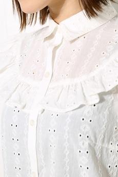 【AZUL by moussy】ノースリーブフリルシャツ
