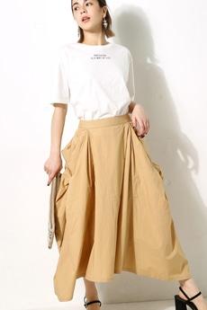 【AZUL by moussy】立体ポケットミディスカート