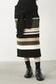 【AZUL by moussy】マルチボーダーフェイクスリーブニットタイトスカート