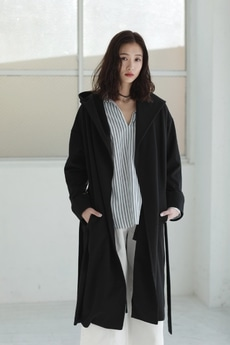 【AZUL by moussy】フードロングコート
