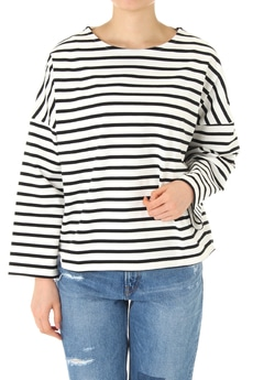 【AZUL by moussy】度詰めボーダーTOPS