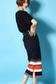 【AZUL by moussy】マルチボーダーミディタイトスカートMOOK番号93060
