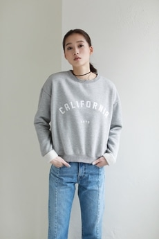 【AZUL by moussy】CALIFORNIA 起毛配色プルオーバー
