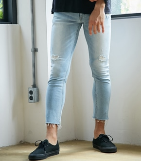 【AZUL BY MOUSSY】CUT OFF CRUSH DENIM