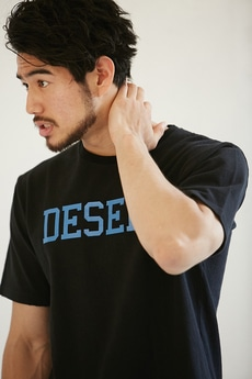 【AZUL by moussy】DESERT天竺クルーネックTEE