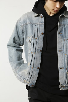 【AZUL by moussy】WranglerダメージビッグGジャン