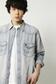 《5/31までWEB限定価格》【AZUL by moussy】Wranglerダメージデニムシャツ