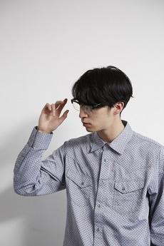 【AZUL by moussy】ドットJQD長袖ウエスタンシャツ