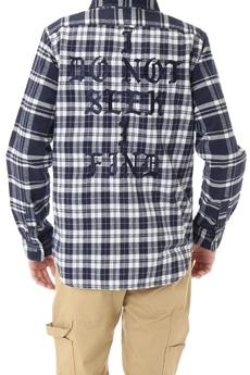 【AZUL by moussy】バック刺繍コンビチェックシャツ
