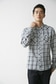 《7/24(月)11:59までWEB限定価格》【AZUL by moussy】かすれチェック長袖シャツ