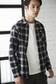 【AZUL by moussy】Shirring Check Shirt